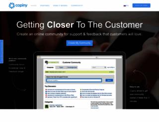 copiny.com screenshot