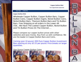 copperbullionmint.net screenshot