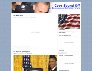 copssoundoff.com screenshot