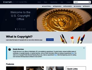 copyright.gov screenshot