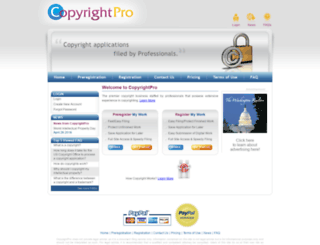 copyrightpro.net screenshot
