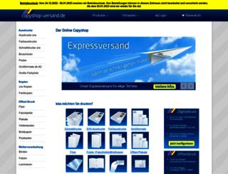 copyshop-versand.de screenshot