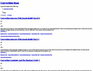 copywritingdean.com screenshot