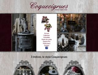 coquecigrues.com screenshot