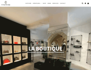 coqueline-boutique.fr screenshot