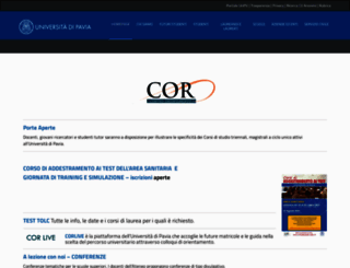 cor.unipv.eu screenshot