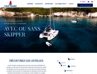 corail-caraibes.com screenshot