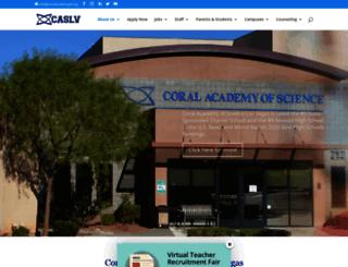 coralacademylv.org screenshot
