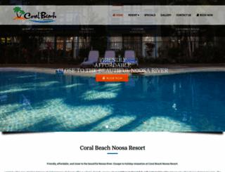 coralbeach.com.au screenshot