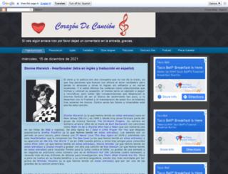 corazondecancion.blogspot.com screenshot
