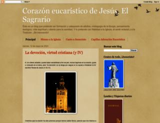 corazoneucaristicodejesus.blogspot.com screenshot