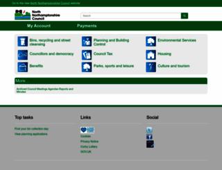 corby.gov.uk screenshot