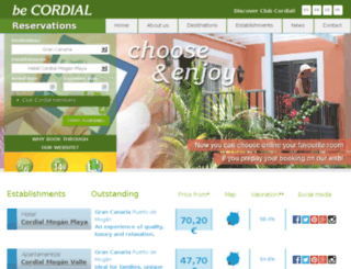 cordialcanarias.com screenshot