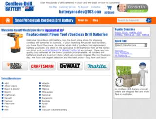 cordless-drill-battery.com screenshot