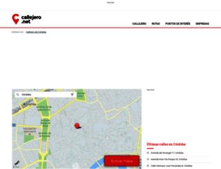 cordoba.callejero.net screenshot