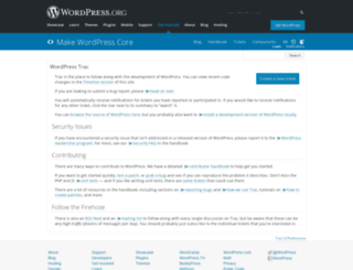 core.trac.wordpress.org screenshot