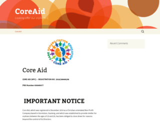 coreaid.co.za screenshot