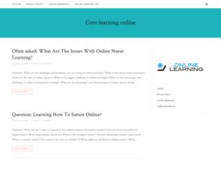 corelearningonline.com screenshot