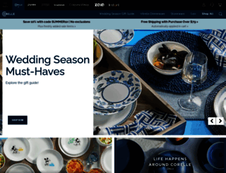 corelle.com screenshot