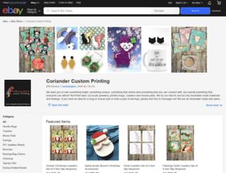 coriandercustomprinting.com screenshot