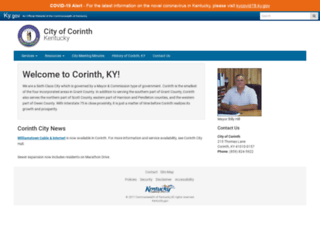 corinth.ky.gov screenshot