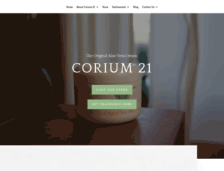 corium21.com screenshot