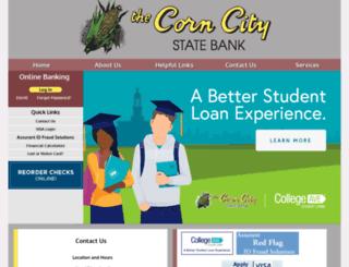 corncitystatebank.com screenshot