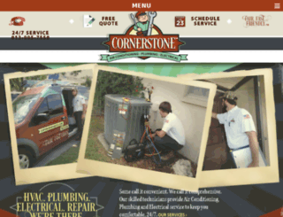 cornerstoneairfla.com screenshot