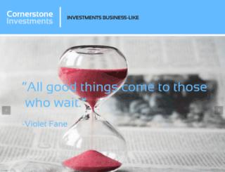 cornerstoneinvest.in screenshot