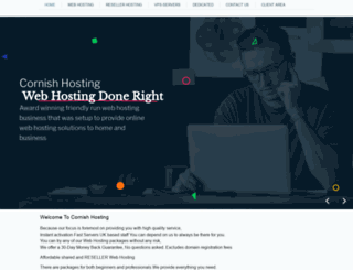 cornishhosting.com screenshot