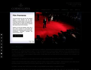 cornucopia-events.co.uk screenshot