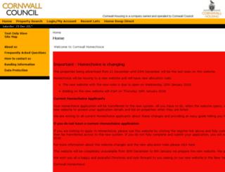 cornwallhomechoice.org.uk screenshot