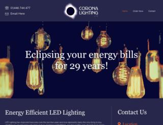 coronalighting.co.uk screenshot