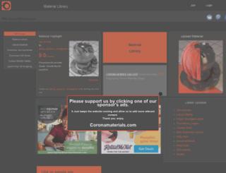 coronamaterials.com screenshot