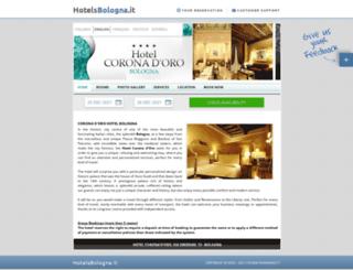 coronaoro.hotelsbologna.it screenshot