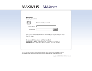corpapp.maxinc.com screenshot