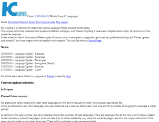 corpora.heliohost.org screenshot