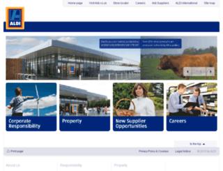 corporate.aldi.co.uk screenshot