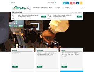 corporate.alitalia.com screenshot