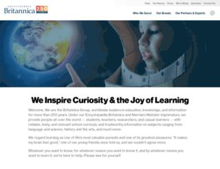corporate.britannica.com screenshot