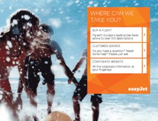 corporate.easyjet.com screenshot