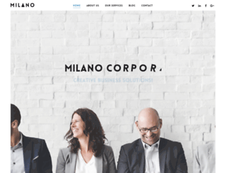 corporate.milano.beantownthemes.com screenshot