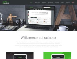 corporate.radio.de screenshot