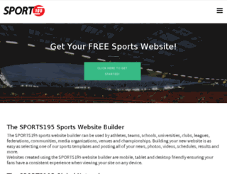 corporate.sports195.com screenshot
