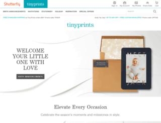 corporate.tinyprints.com screenshot