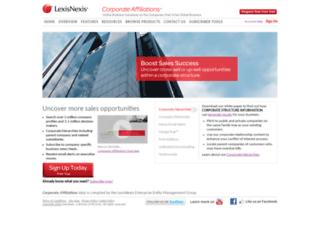 corporateaffiliations.com screenshot