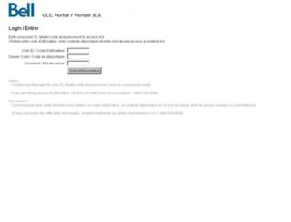 corporateclientcare.bell.ca screenshot
