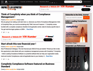 corporatelawreporter.com screenshot