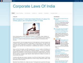 corporatelawsforindia.blogspot.in screenshot