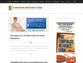 corporateresourceguide.com screenshot